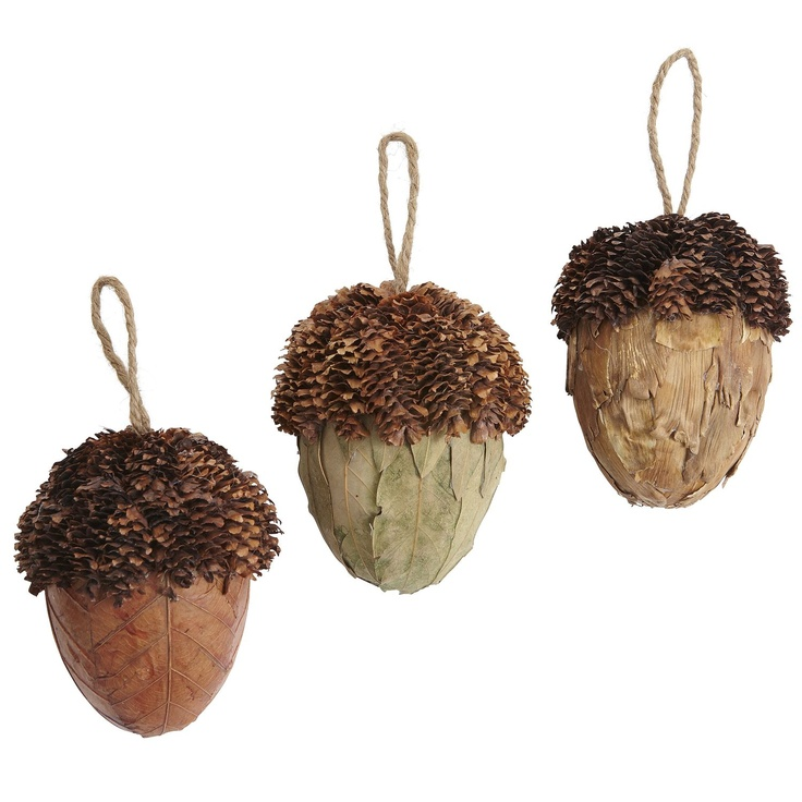 Natural Acorn Ornaments   More Great Ideas On CuriousCountryCreations.com