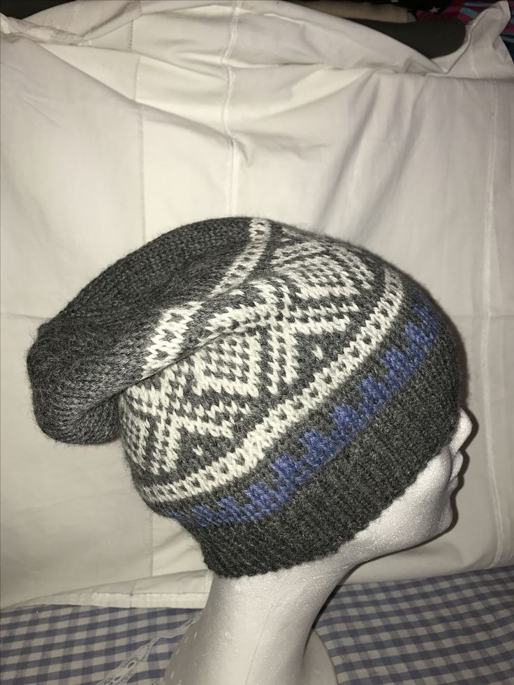 Knitted Marius hat for my husband.