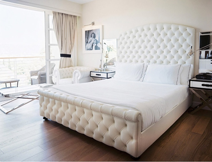 Every queen needs a throne... and a big glam white bed. We know Mr. C agrees.