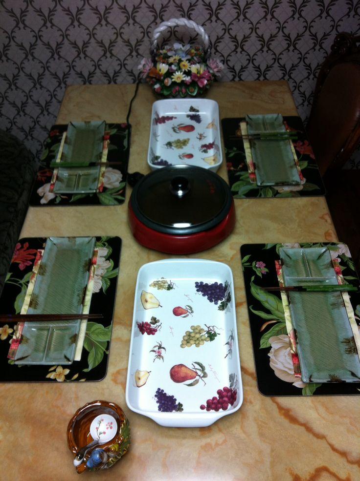 Make preparation for Shabu-Shabu. :)
