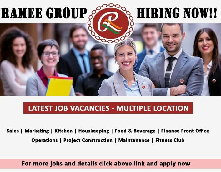 Jobs In Ramee Group Of Hotels And Resorts Attractive Salary Accommodation Flight Tickets Visa Various Sector Jobs Hotels And Resorts Resort How To Apply