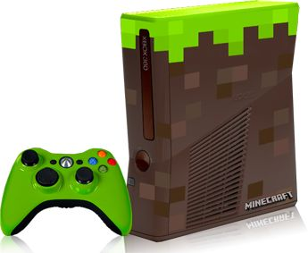 Minecraft edition xbox 360 with a lime green controller.  J would LOVE this.  :)  Probably only three made in the world . . .
