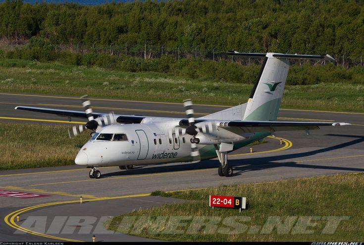 Wideroe De Havilland Canada DHC-8-103 Dash 8  Bronnoysund - Bronnoy (BNN/ENBN) Norway, June 22, 2012
