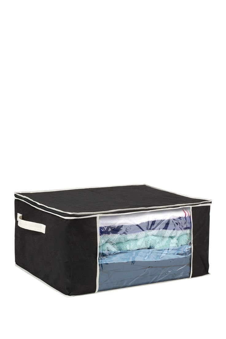 Black Faux Jute Blanket Bag