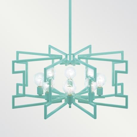 'Lolita' turquoise chandelier