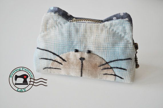 Cat Purse PDF Sewing Pattern by LYPatterns on Etsy