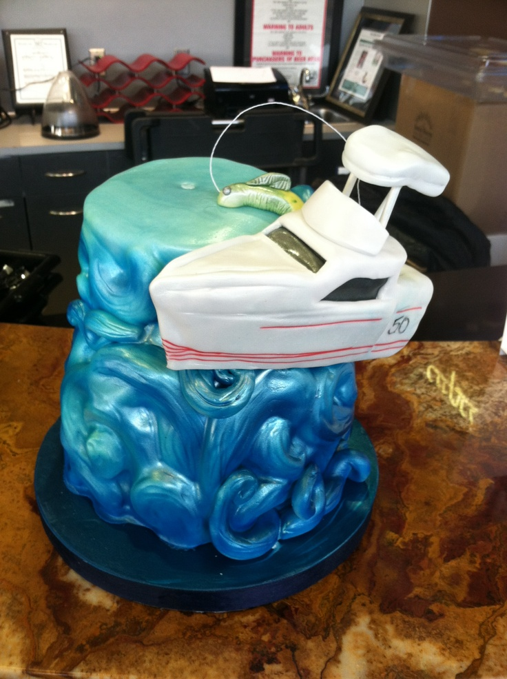 Deep Sea Fishing Boat On Waves Cake Pinterest Perfection