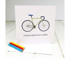 Greetings Card for a Road Biker by Angelcake Designs