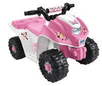 Power Wheels Minnie Mouse Lil' Quad 6 Volt Ride On - Pink/White