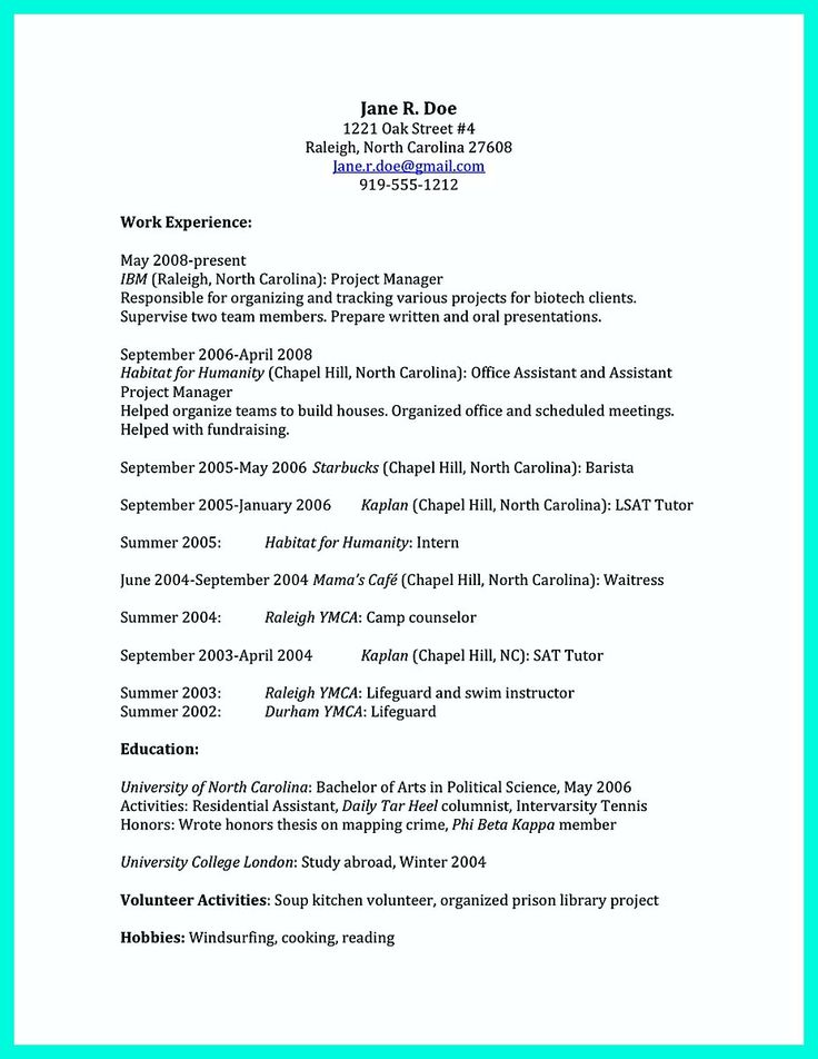 Beautician Resume Sample Nice The Perfect College Resume Template