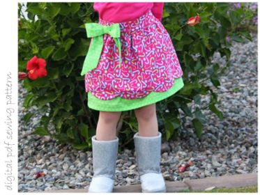 Peony Skirt - Sizes 2 to 10 | Craftsy | digital pdf sewing pattern