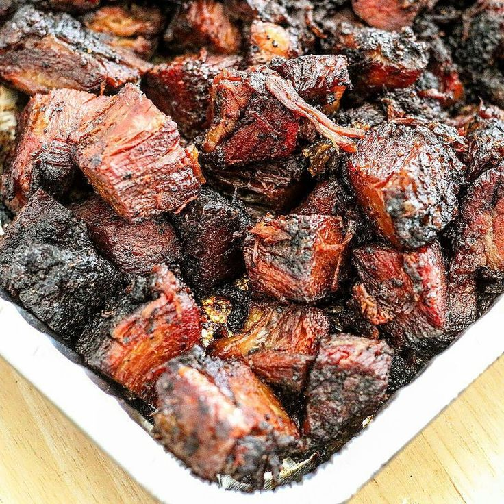 Hardwood smoked brisket burnt ends. Life is now compete.  #myfoodeatsyourfood  Courtesy: Smokin Jimmy Ho @thesmokingho @44farms - Awesome work on those ends!! #texas #chef #grill #grilling #bbq #barbecue #smoke #smoking #ribs #brisket #steak #beef #beer #prime #meat #meatlover #carnivore #paleo #glutenfree #instagood #foodstagram #foodgasm #foodpics #foodporn #lunch #fiesta #getinmybelly #beautifulcuisines #firemakeseverythingbetter