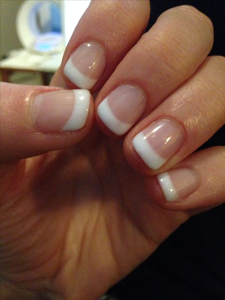 Short french tip manicure