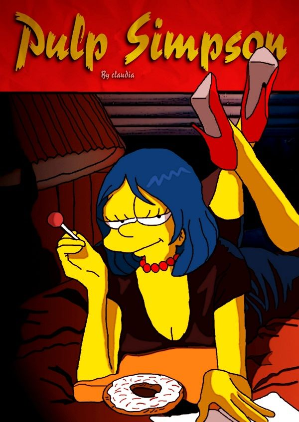 Pulp Simpson (see more on http://www.tranchesdunet.com/affiches-films-simpsonisees/)