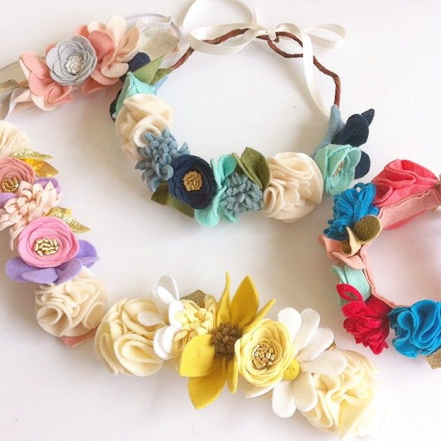 felt flower crowns // http://fancyfreefinery.etsy.com // fancy free finery
