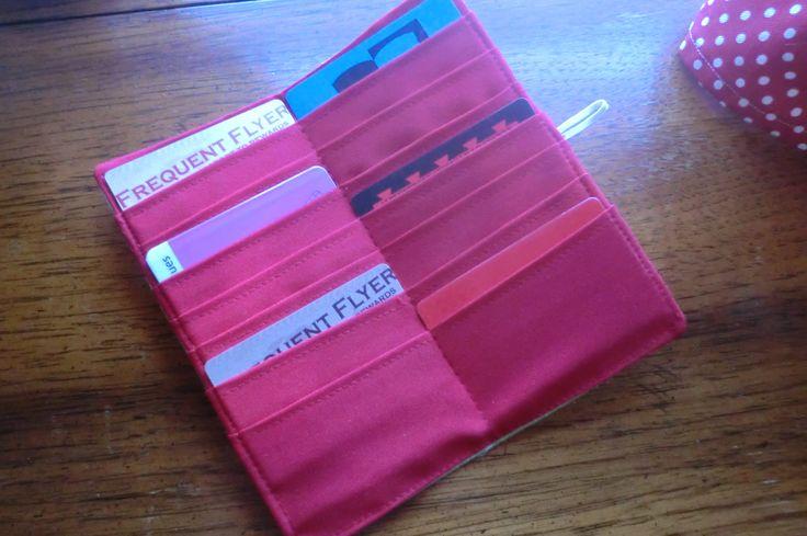 Credit Card Holder ~ Fabric, finally!