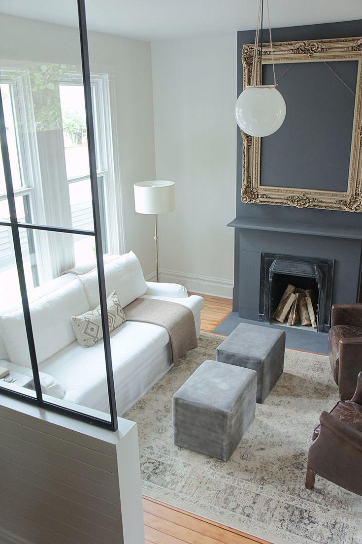 KAEMINGK DESIGN:  Modern Victorian farmhouse living room.