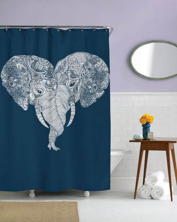 Punch Trunk Love Elephant Heart Shower Curtain by sharpshirter