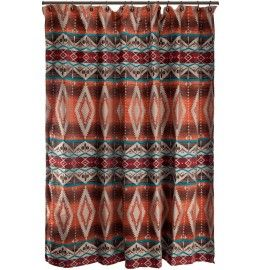 Mojave Sunset Southwestern Fabric Shower Curtain #westbysouthwestdecor