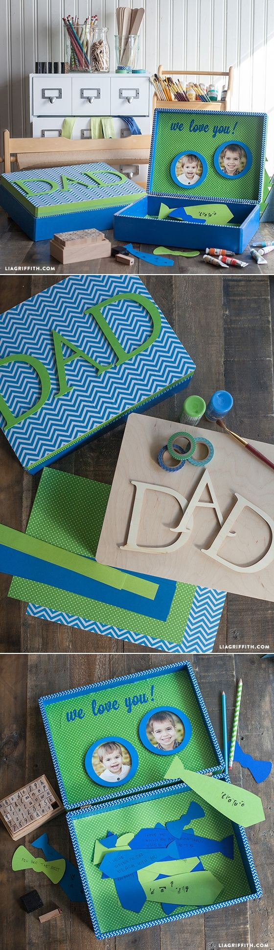 #diyfathersday #fathersdaycrafts at www.LiaGriffith.com