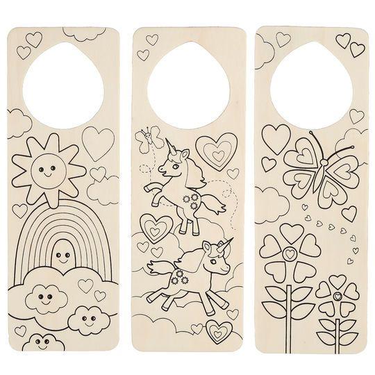 Darice® Wood Door Hanger, Unicorn & Rainbow