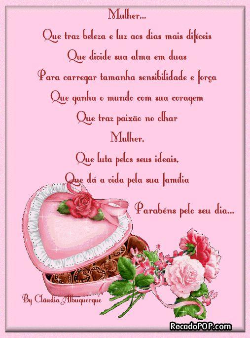Feliz Dia Internacional da Mulher!!!