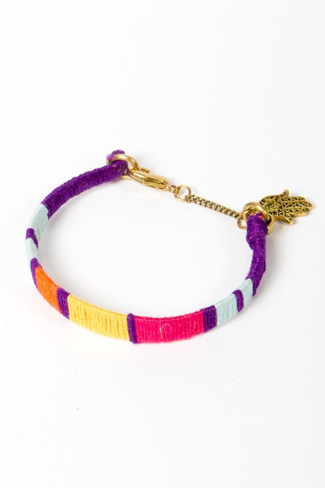 N+n color blocked bracelet