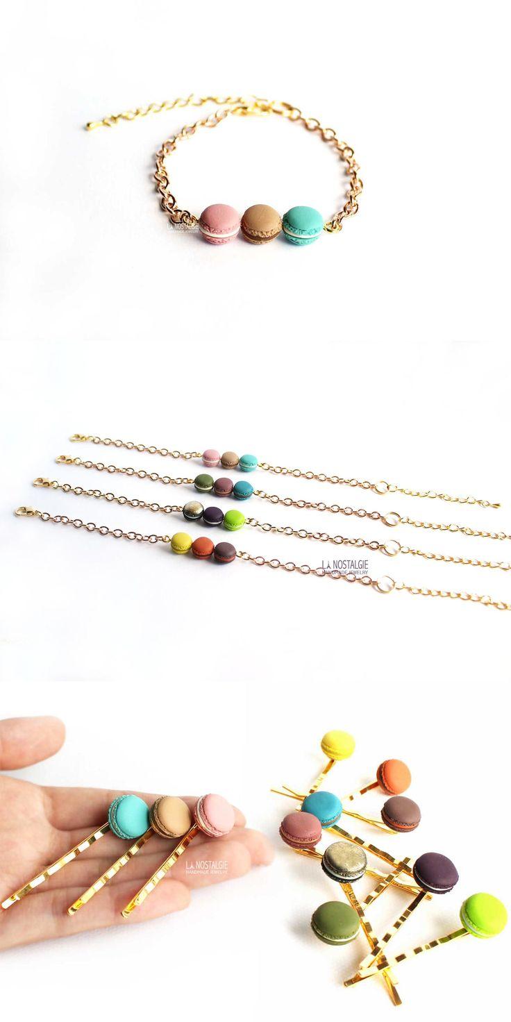 Macaron Bracelet,gold Bar Bracelet,macaroon Bracelet,gold Charm Bracelets,candy  Jewelry,dainty Bracelets,gold Charm Bracelet,dainty Jewelry