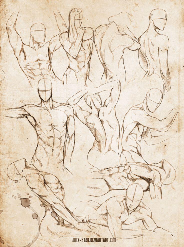 """Male Body Study VI"" - Jinx-Star, DeviantArt.com"