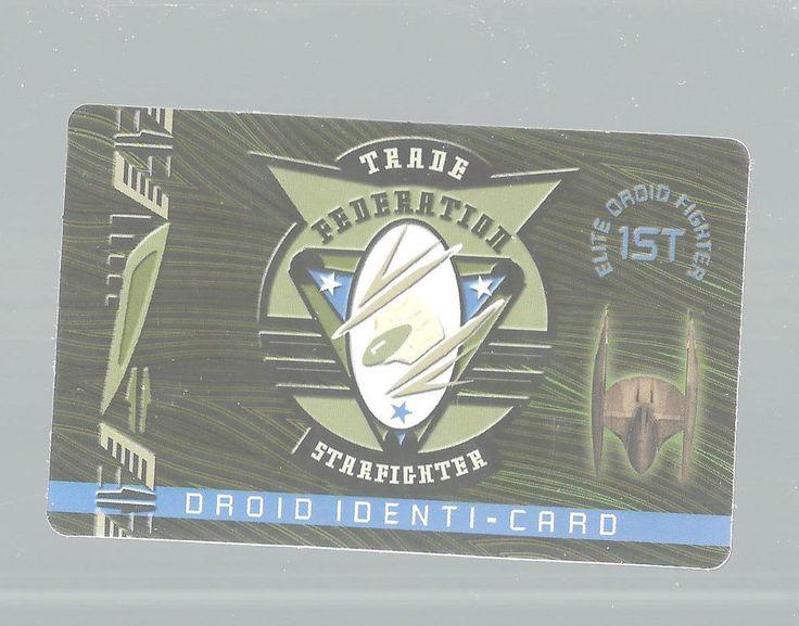 Star Wars Trade Federation Droid Identi-Card Starfighter