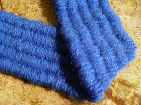Handles for bags - woven, not crocheted?