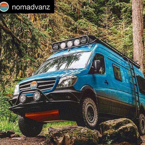 "@nomadvanz newest creation ""Out of the Blue"" is a fully ROAMBUILT spec'ed beast of a van! #Roambuilt #roambuiltsafarirack #roambuiltshadowrack #roambuiltwheels #roambuiltbrushguard #roambuiltskidplate #roambuiltnerfbars #roambuildladder #roambuiltbumper #mercedes #mercedesbenz #mercedes4x4 #mercedessprinter #mercedesbenzsprinter #sprinter #sprinter4x4 #sprintervan #sprintervanlife #adventure #adventuremobile #vanlife #adventurevan #camper #camperlife #campervanlife #overland #overlanding…"