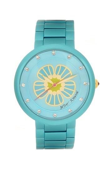 Women's Blue Aluminum Flower Watch by Betsey Johnson Jewelry & Watches on @HauteLook