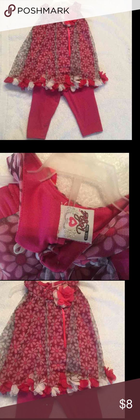 🎀Cute Toddler Girl Fuchsia Outfit🎀 Cute ❤️️Gentle Used like New Condition Cute Toddler Girl Fuchsia Outfit with flowers only worn once 18 months Matching Sets