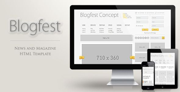 Blogfest - Blog, News and Magazine HTML template - Entertainment Site Templates