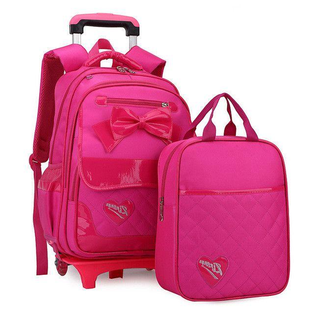 2 Wheels Children School bags Primary student trolley backpack Girls rolling luggage travel bag on wheels Bagpack Women Bolsas