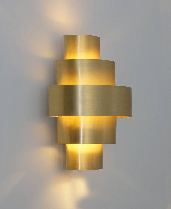 Moderne Kelly Wand Leuchte Handgefertigte Wandleuchte Gold Wand