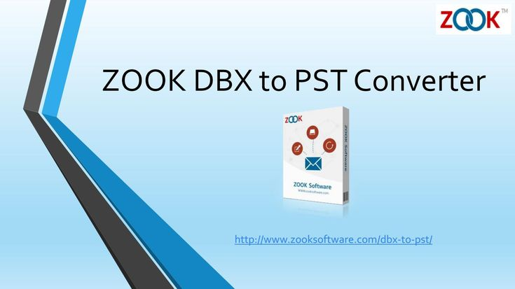 ZOOK DBX to PST Converter  Convert your DBX files to Outlook PST from Outlook Express to MS Outlook in an easy way by using ZOOK DBX to PST Converter. For More Info: http://www.zooksoftware.com/dbx-to-pst/