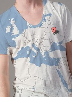 Where in the world are 'you'?  Creative google map t-shirts