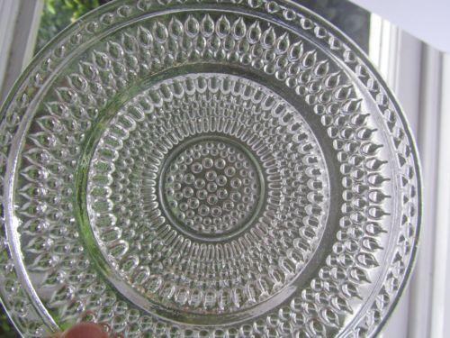 Iittala Vintage Swedish Art Glass set 6 Plates Ovia Toikka Dew Drop