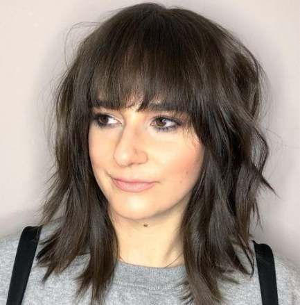 20+ Trendy haircut with bangs for round faces shoulder length