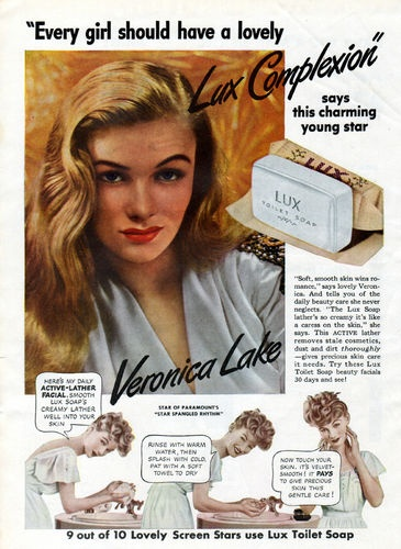Veronica Lake for Lux Soap (1943).