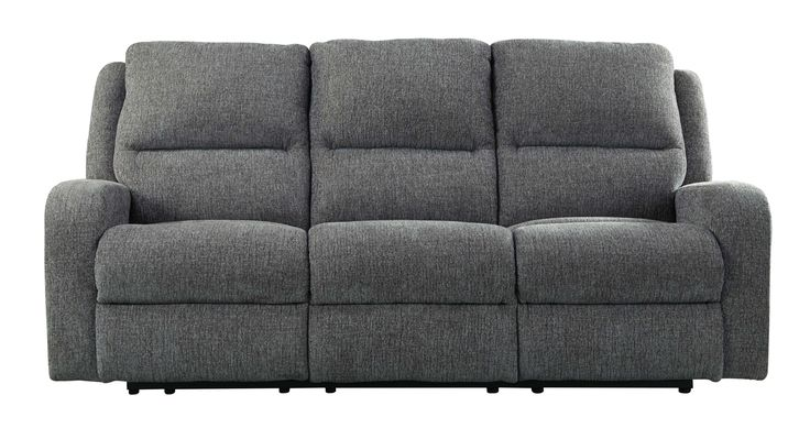 Lowest price on Signature Design by Ashley Krismen Charcoal Power Reclining Sofa with Adjustable Headrest 7810215. Shop today!