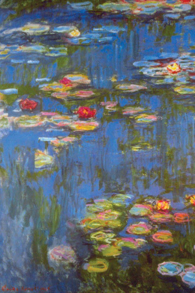 Water lilies no 3 by claude monet · claude monetposter printsart