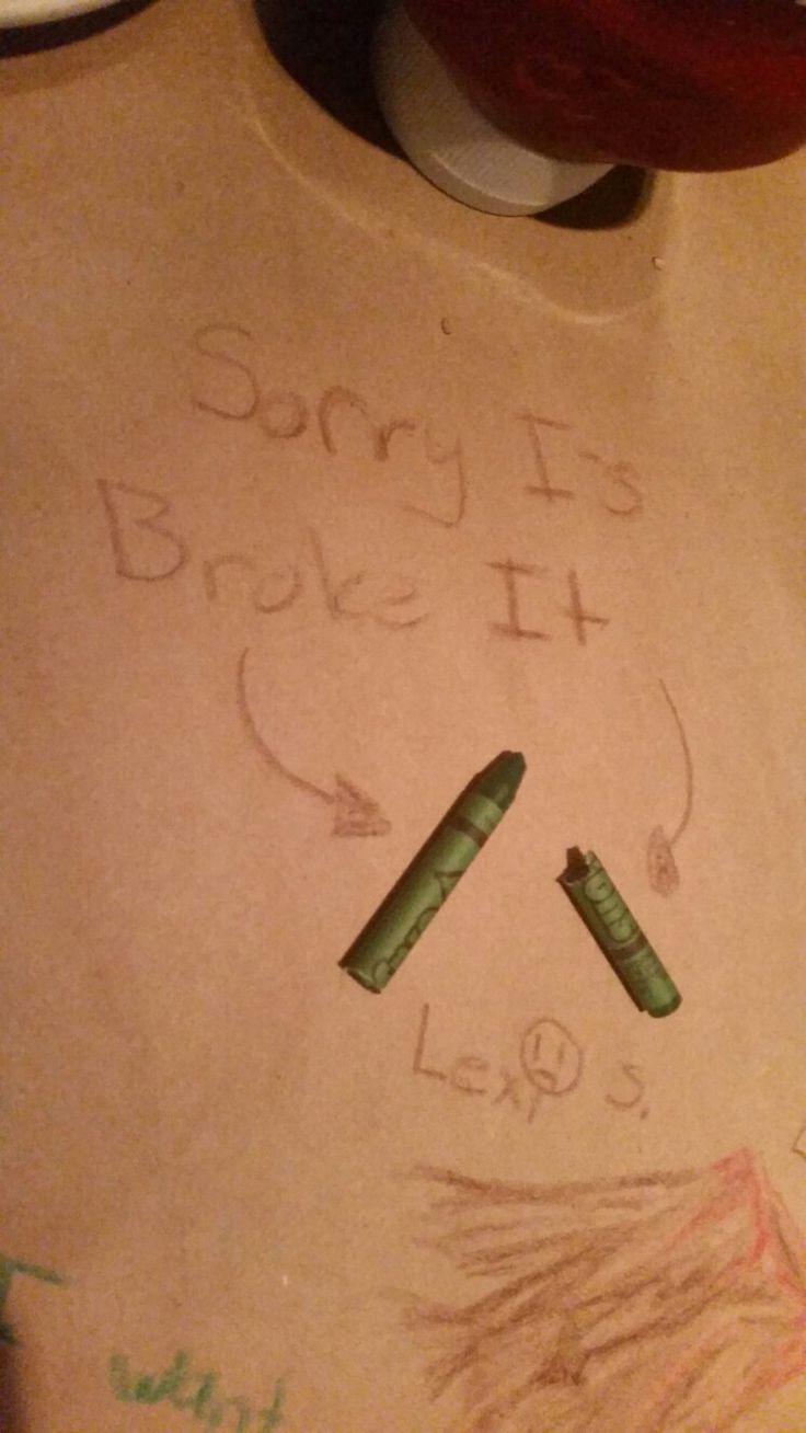 I broke the crayon....