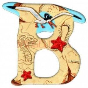 Αυτοκόλλητο γράμμα Capt' n Sharky B Αυτοκόλλητα γράμματα για παιδικό δωμάτιο. Χαρούμενα και πολύχρωμα γράμματα με τον πειρατή Capt' n Sharky για μία ξεχωριστή νότα διακόσμησης στο δωμάτιο του παιδιού! Κολλήστε τα στην πόρτα του παιδικού δωματίου, βάλτε τα σε φελλοπίνακα για ένα ξεχωριστό μήνυμα, μάθετε την αλφάβητο. Είναι γράμματα του λατινικού αλφάβητου τα οποία μπορούν να κολληθούν σε όλες τις επιφάνειες καθώς η πίσω τους όψη είναι αυτοκόλλητη.