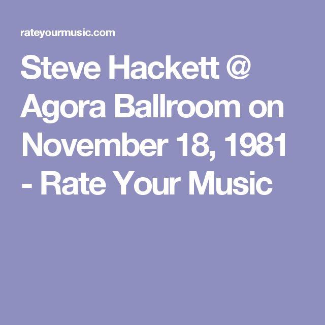 Steve Hackett @ Agora Ballroom on November  18, 1981 - Rate Your Music