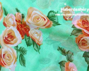 1 Meter Chiffon Fabric CH10-1 Wonderful Sweet by haberdasheryCN