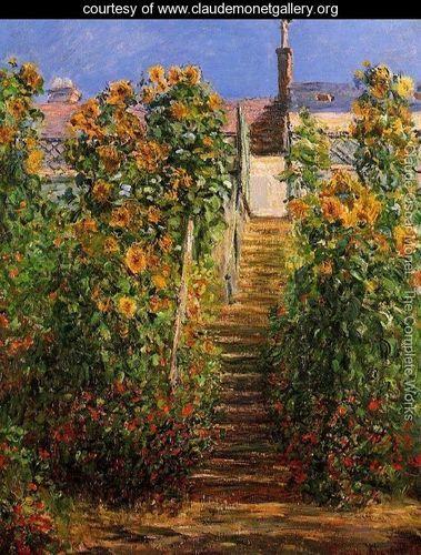 The Steps At Vetheuil - Claude Oscar Monet - www.claudemonetgallery.org