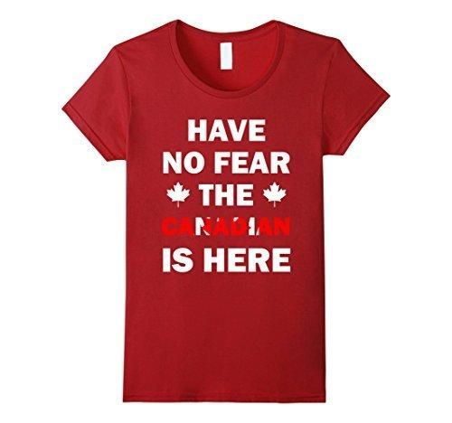 Women's Have No Fear Canada Day Canadian Flag dry funny model Shirt XL Cranberry